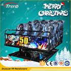 Air Injection Amusement Park 5D Movie Theater Luxury Seats With 12 Special Effects