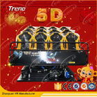 Hydraulic Amusement Park 5D Movie Theater 6 Pistons With Electric Seat Platform