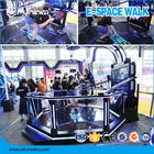 Black 220V 9D VR Space Walk Virtual Reality Boxing Game Ride 0.9KW For Amusement Park