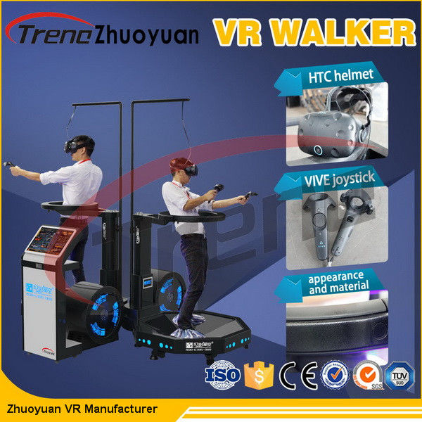 Theme Park Virtual Reality Treadmill Video Game With Wearable Sensors