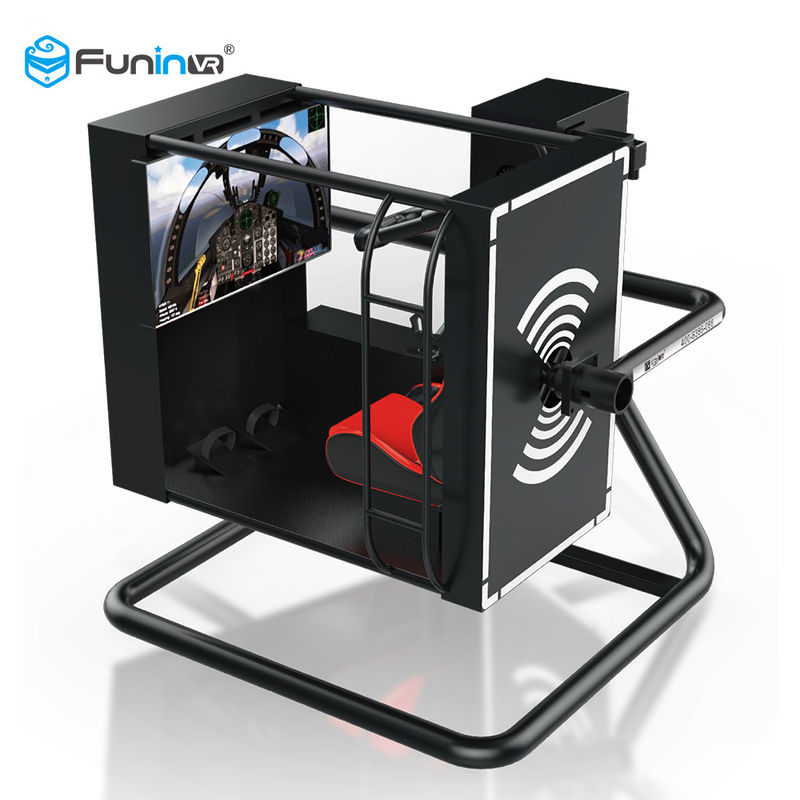 Full Motion Entertainment Amusement Park Equipment 220V 3.5kw 720 Degree Flight Simulator Cockpits