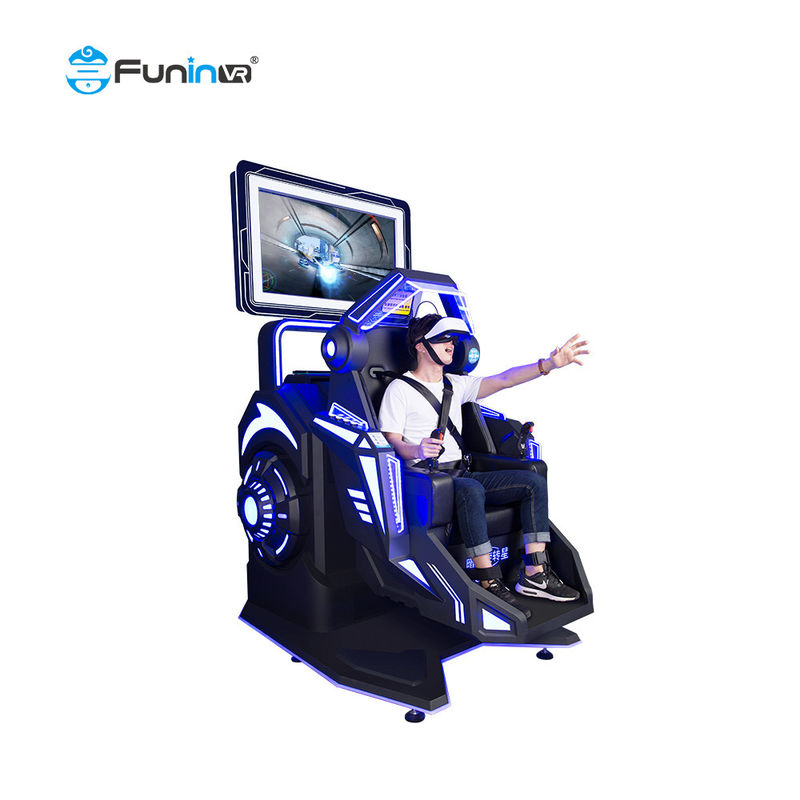 Metal  1  seat 360 Degree Rotation 9D Virtual Reality Flight Simulator